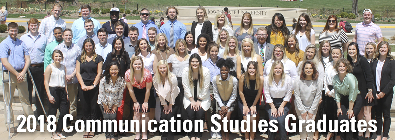 2018 Communication Studies Graduates group photo